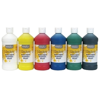 Little Masters Washable Tempera Paint, Choice of 8 Colors, 16 oz