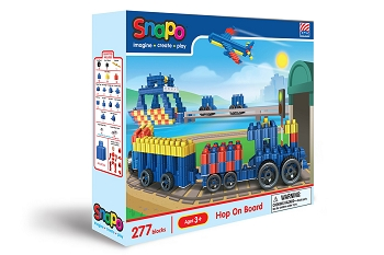 Snapo, Hop On Board: Standard Blocks Box - 277 Pieces