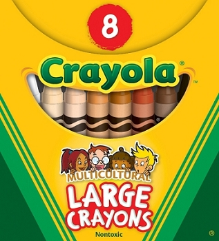 8 Count Large Multicultural Crayons