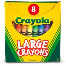 8 Count Large Crayons