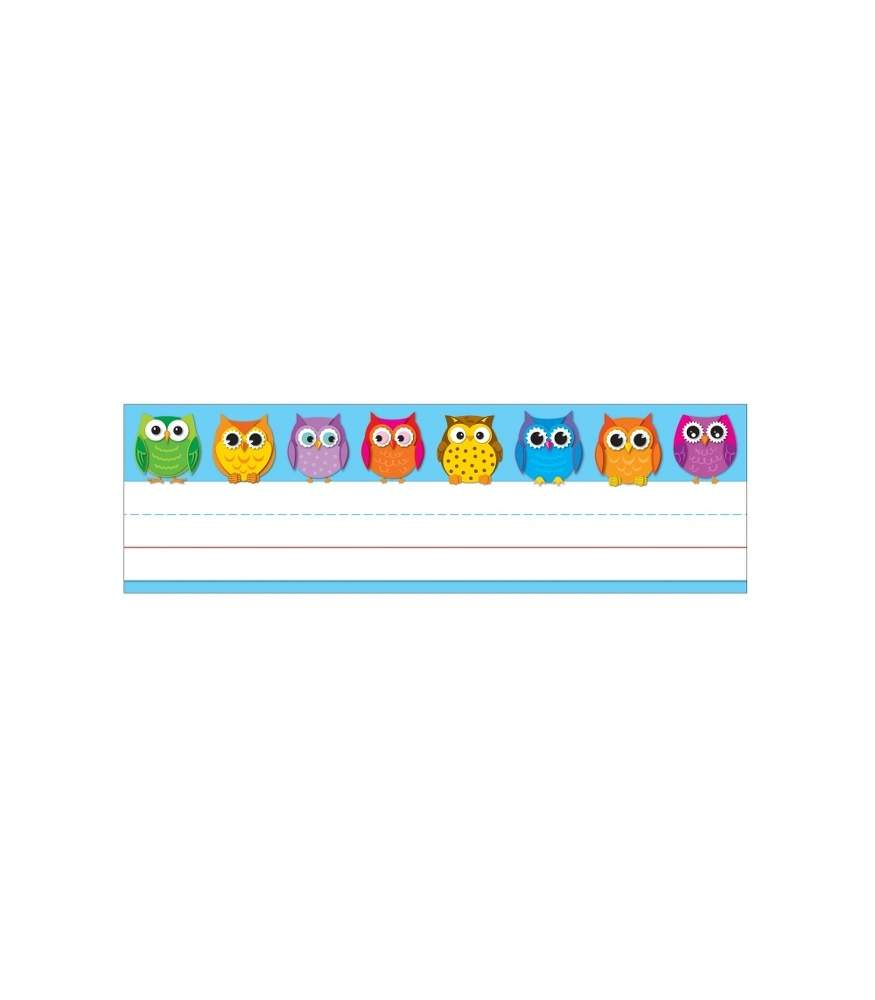 Traditional Desk Nameplates Colorful Owls