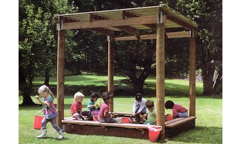 Sun Shelter Sandbox 8' Square