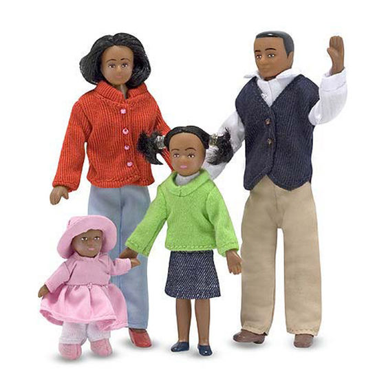 Victorian Doll Family- African American, Tall (10-1/2