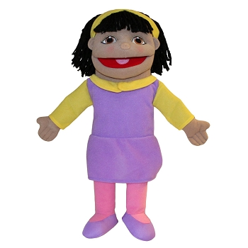 Small Olive Skin Girl Puppet, 16''
