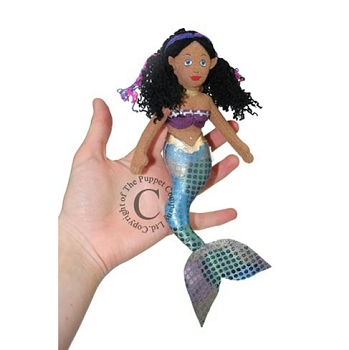 Mermaid - Dark Skin - Finger Puppet