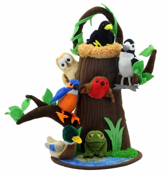 Tree With Nest - Hide-Away Puppet