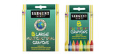 Sargent Large Size Washable Crayons - Set of 8