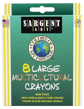 Sargent- Multicultural Crayons - Large Size - Set of 8