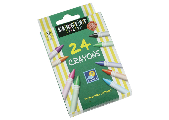 Sargent Standard Size  Crayons Display Box - Set of 24