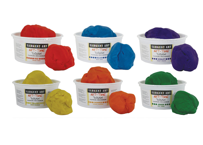Art Time Dough Assortment, 3 lb - Set of 6