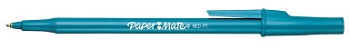 Paper Mate Write Brothers Ballpoint Stick Pen, 1 mm Medium Tip, Blue Ink/Barrel, Pack of 12