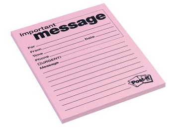 Post-it Telephone Message Pad, 4