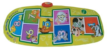 Animal Hopscotch Coordination Mat, Rectangle, Vinyl Coated