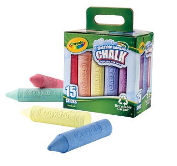 Crayola Non-Toxic Sidewalk Chalk Tray - Assorted Colors