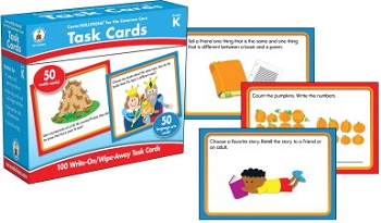 CenterSOLUTIONS for the Common Core Task Cards, Grade K