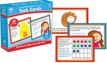 Carson-Dellosa CenterSOLUTIONS for the Common Core Task Cards, Grade 1