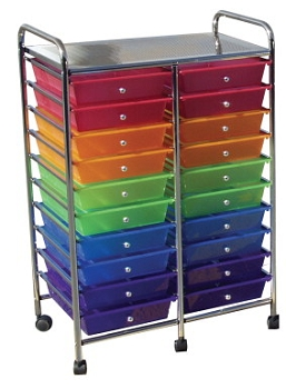 School Smart Mobile Organizer, Multiple Color, 20 Tier