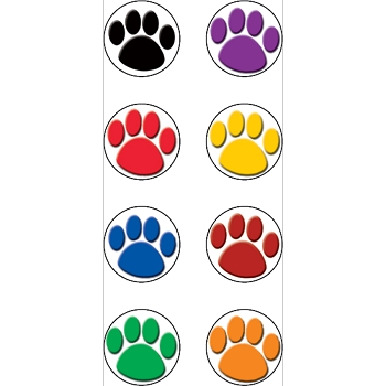Colorful Paws Mini Stickers