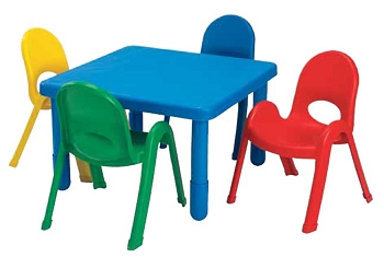 Square Value 28'' Square Table and 4 Chair Toddler or Preschool Set
