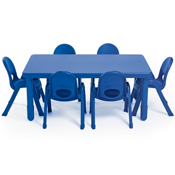 Value Line Rectangle Table and 6 Chairs