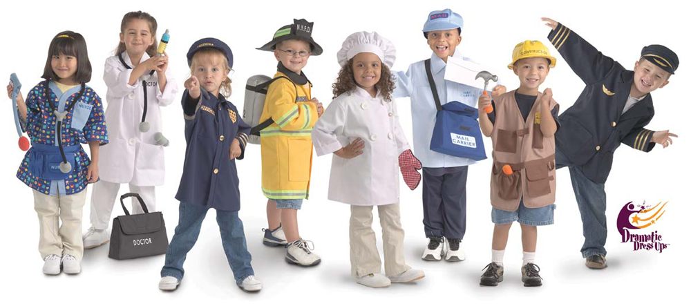 Community Helper Dress Up Collection, Set of 8