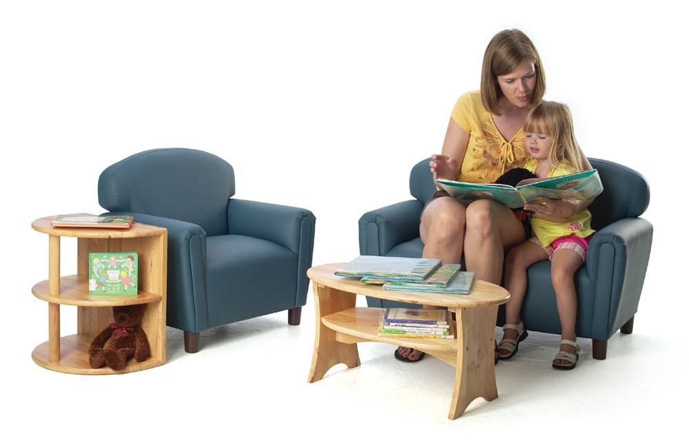 Just Like Home' Preschool Enviro-Child Upholstery Furniture and Tables Set