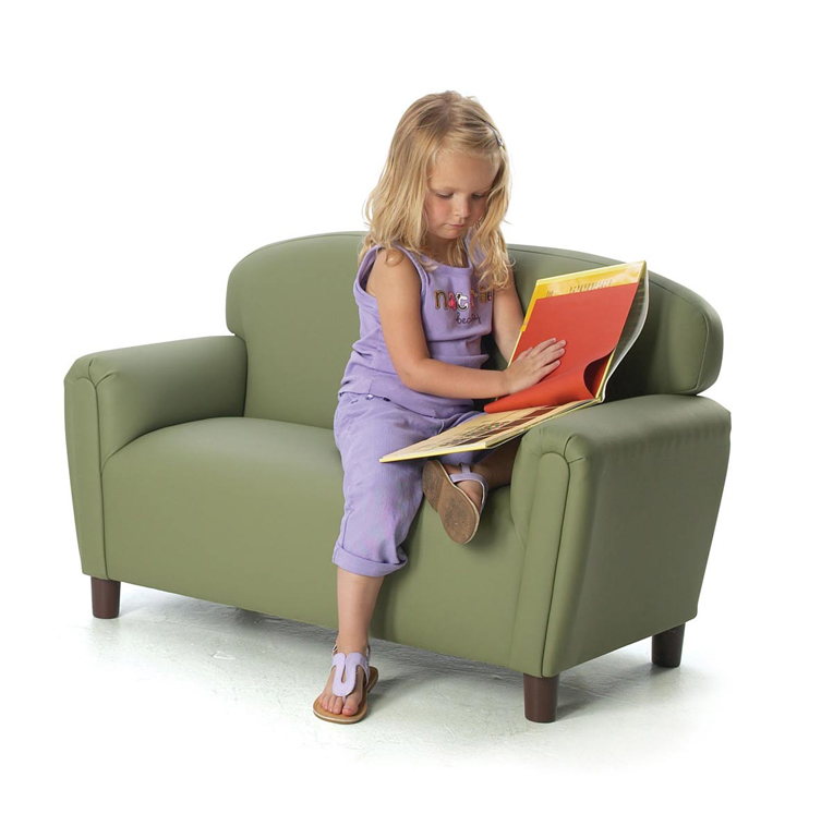 Just Like Home' Preschool Enviro-Child Upholstery Sofa Choice of Color