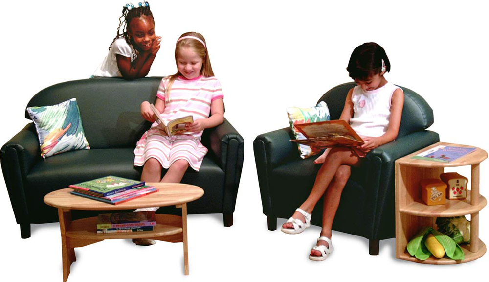 Just Like Home' Premium Vinyl School Age Furniture and Tables Set