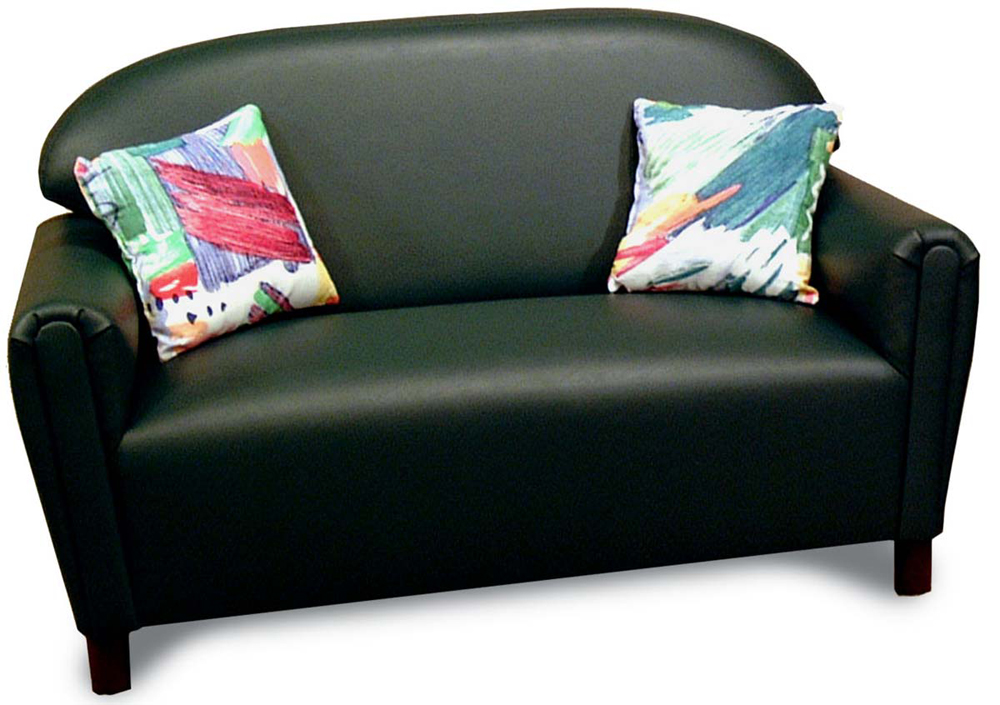 Just Like Home' Premium School Age Vinyl Sofa Coice of Color