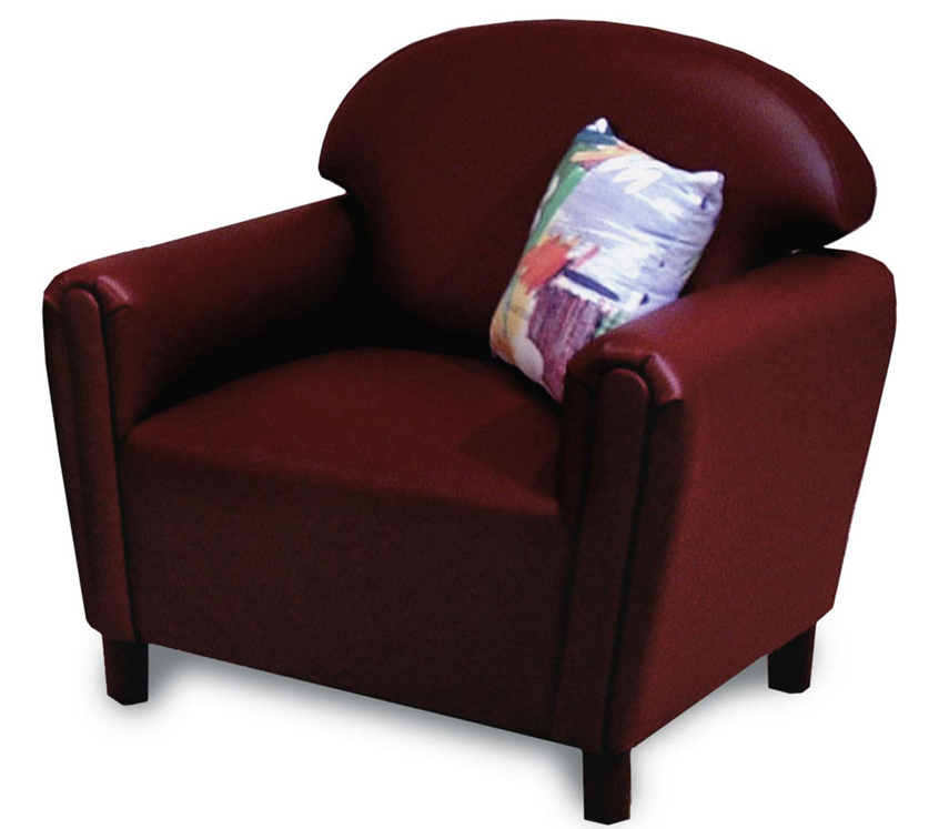 Just Like Home' Premium School Age Vinyl Chair Choice of Color