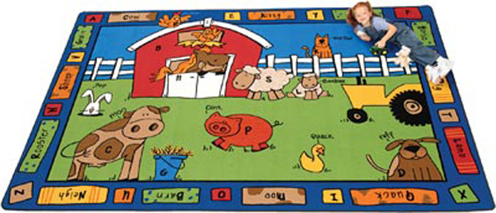 Alphabet Farm - Rectangle - 3 Sizes