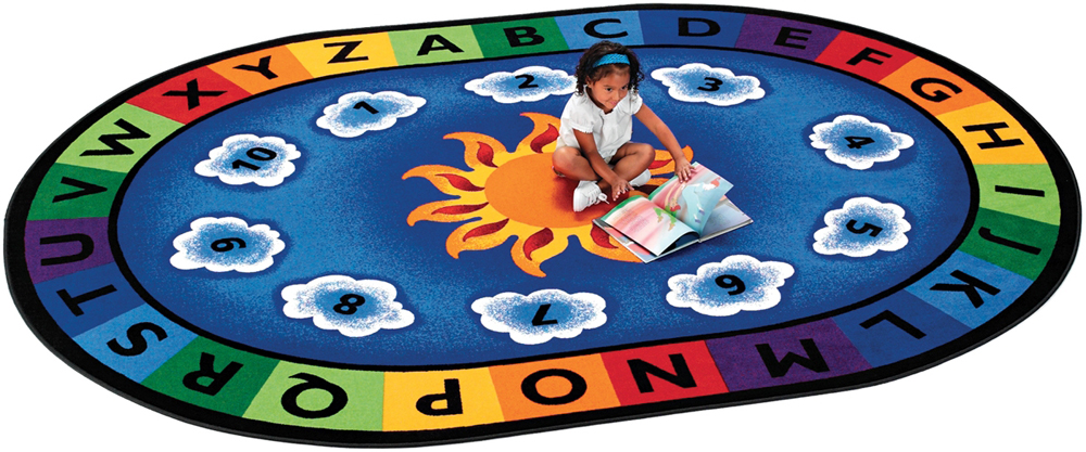 Sunny Day Learn & Play, Oval - 3 Sizes Available