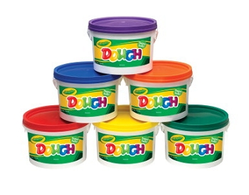 Crayola Dough, 6-Pack Assortment, 3-lb Bucket