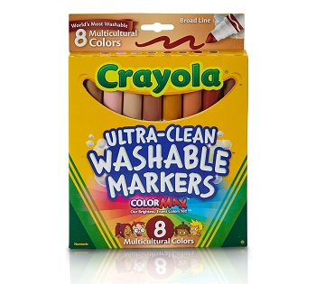 Ultra-Clean Washable Multicultural, Broad Line, ColorMax Markers