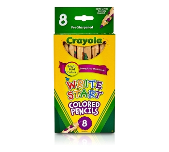 Crayola Write-Start Colored Pencils - Set of 8