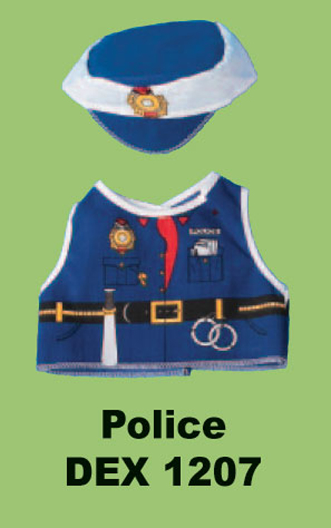 Police Officer Doll and Teddy Bear Costume