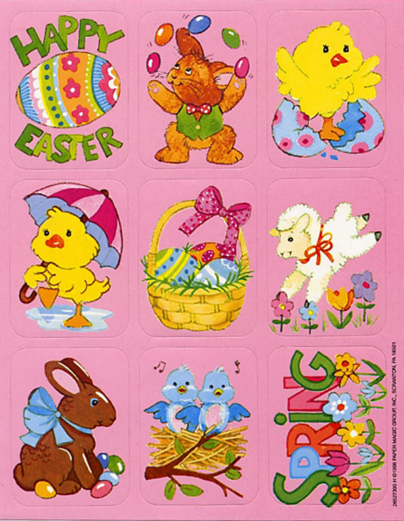 Easter - Giant Stickers
