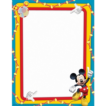 Mickey Mouse Clubhouse Primary Colors - Computer Paper