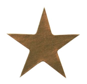 250 Gold Presto-Stick Foil Star Stickers - 1/2