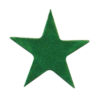 250 Green Presto-Stick Foil Star Stickers - 1/2