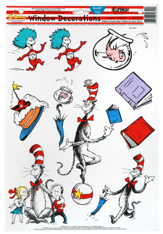 Cat in the Hat® Characters Window Clings