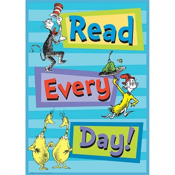 Dr. Seuss Read Every Poster