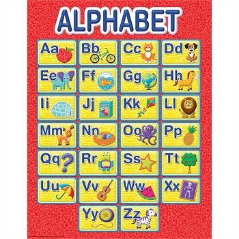 Color My World Alphabet Chart