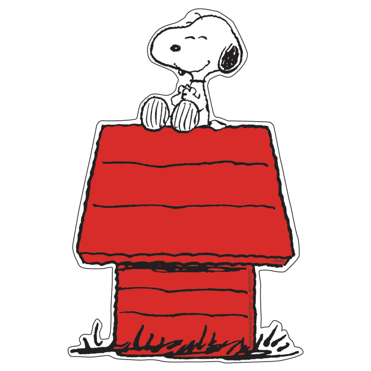 Snoopy™ on Dog House - Paper Cut Outs