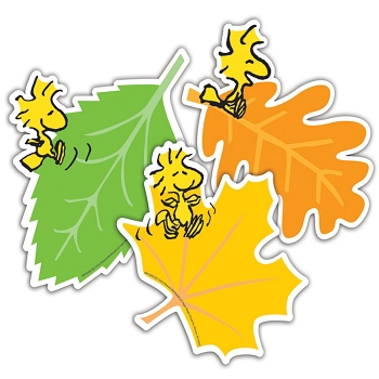 Peanuts Fall Leaves - Assorted Paper Cut-Outs