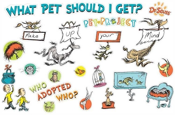 Dr. Seuss What Pet Should I Get? Bulletin Board Set
