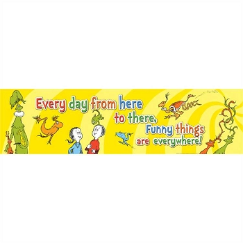 Dr. Seuss One Fish, Two Fish Classroom Banner