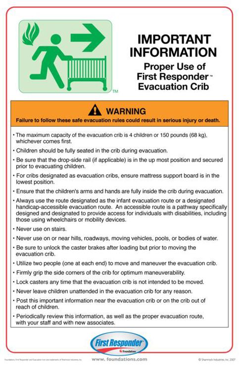 Evacuation Protocal Training Sign