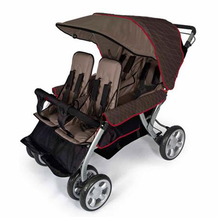 The LX4 4-Passenger - Dual Canopy Folding Stroller - Multiple Colors
