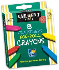 Sargent Flatsiders/Non-Roll Crayons - Set of 8
